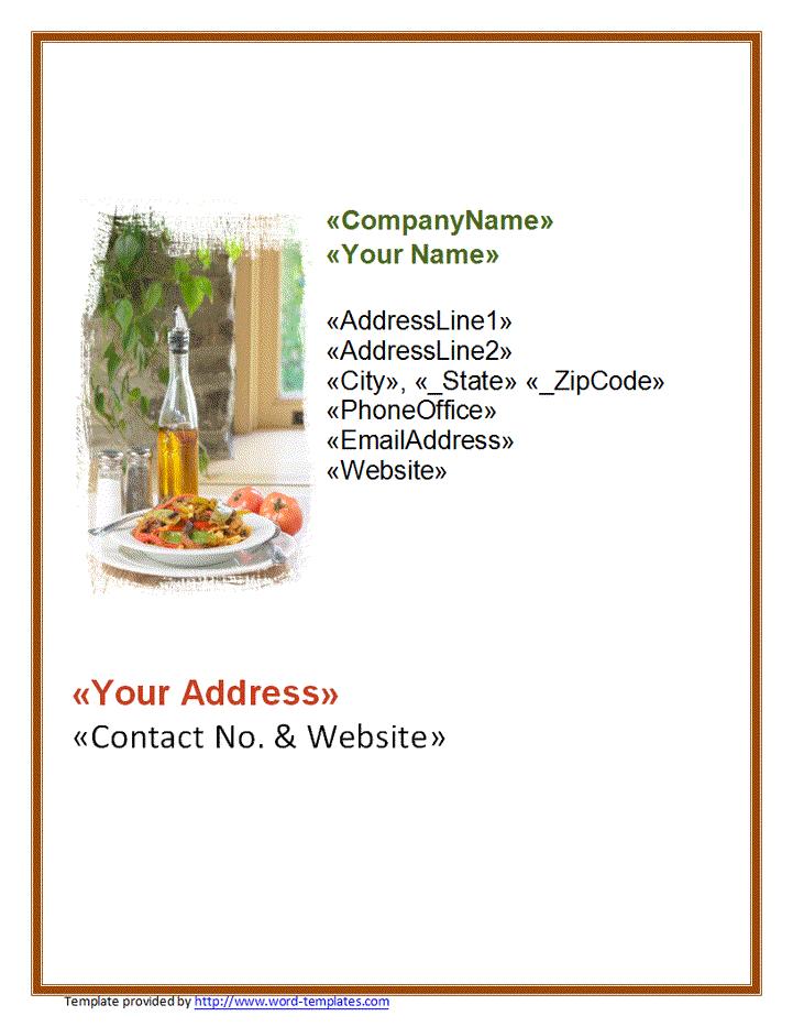 restaurant business card template doc