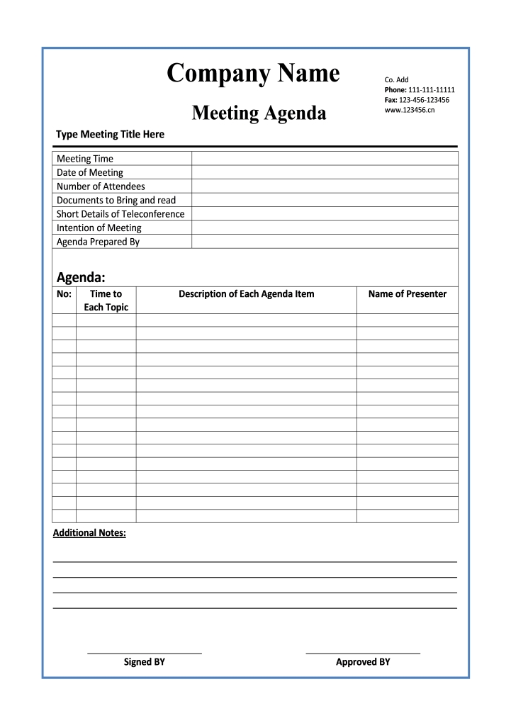 meeting-agenda-template doc - writer templates
