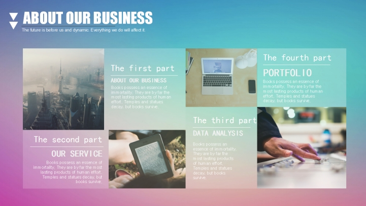 Colorful Fresh Company Introduction ppt - Presentation Templates